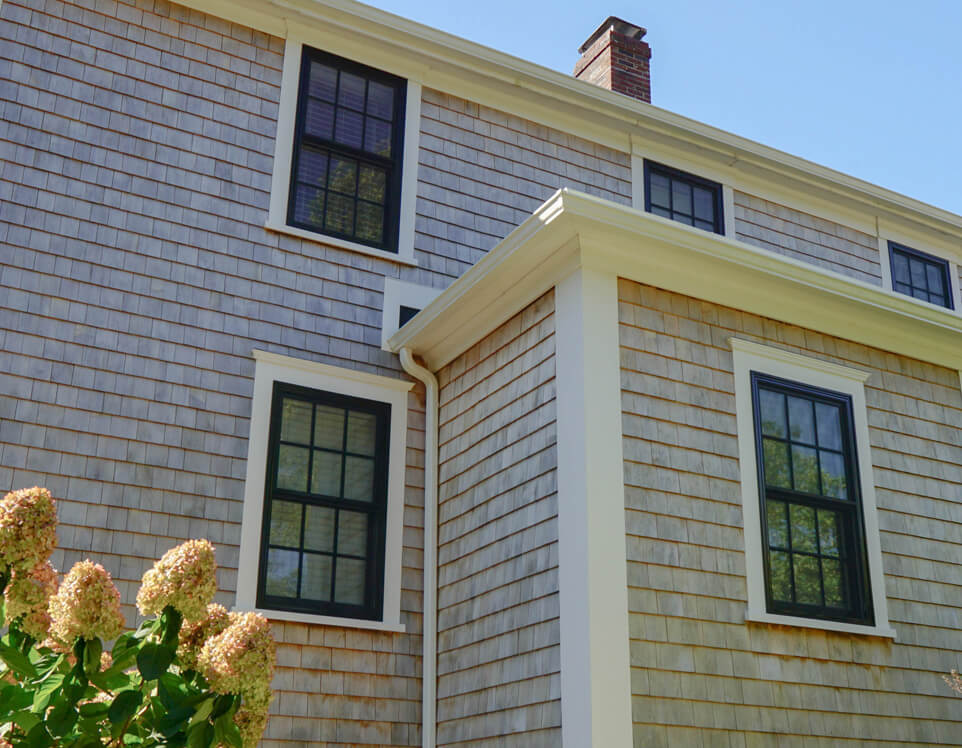 Cedarworks installs cedar shingle and clapboard siding in Wellfleet, MA