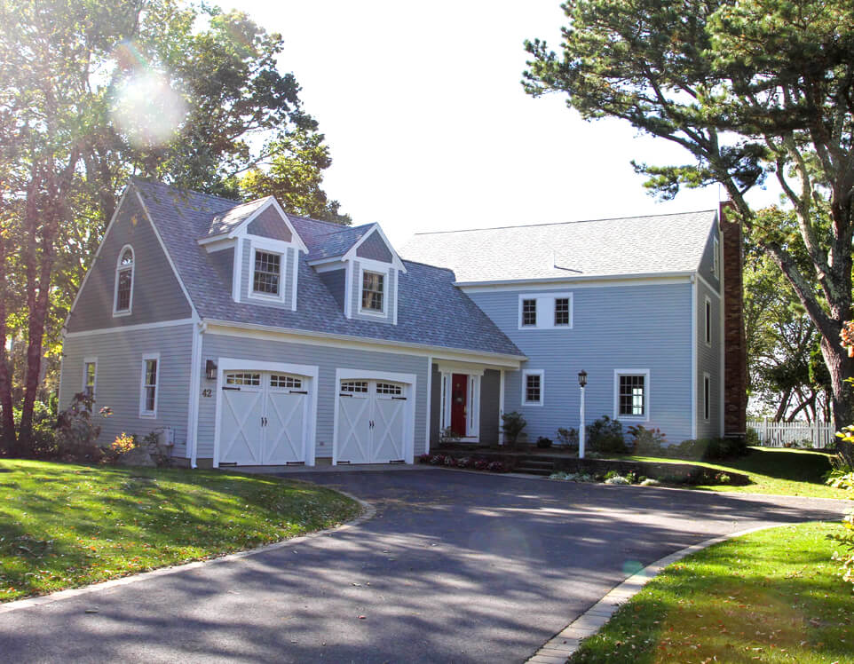 Cedarworks installs cedar shingle and clapboard siding in Brewster, MA