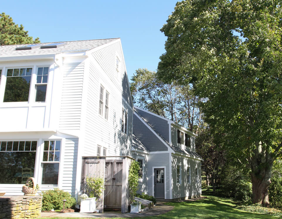 Cedarworks installs cedar shingle and clapboard siding in Eastham, MA